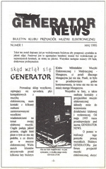 First issue of Generator News