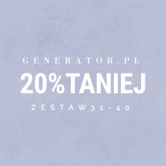 Generator.pl | set 31-40 | 20% cheaper