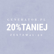 Generator.pl | set 41-50 20% cheaper
